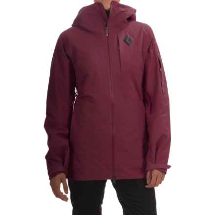 Black Diamond Equipment Zone Gore-Tex® Ski Jacket - Waterproof, Insulated (For Women) in Merlot - Closeouts