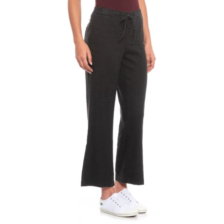 Image of Black Drawstring Ankle Pants (For Women)