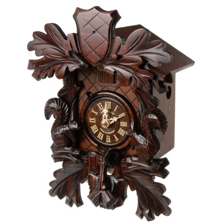 Image of Black Forest Oak Leaves Hunting Cuckoo Clock - 15?