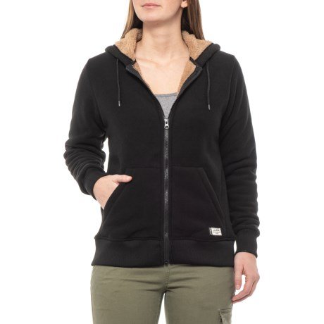 Image of Black Harlow Hoodie - Zip Front (For Women)