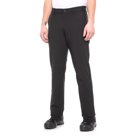 Image of Black High-Performance Stretch Tech Pants (For Men)