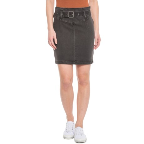 Black Livin It Up Pencil Skirt (For Women)