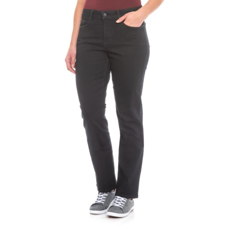 Image of Black Marilyn Straight-Leg Jeans (For Women)
