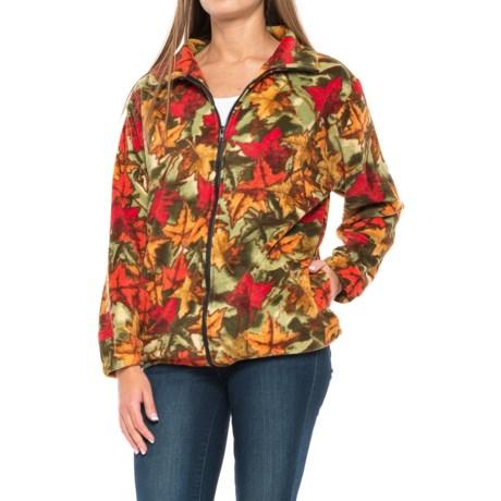 Black Mountain Lightweight Fleece Jacket (For Women) in Foliage