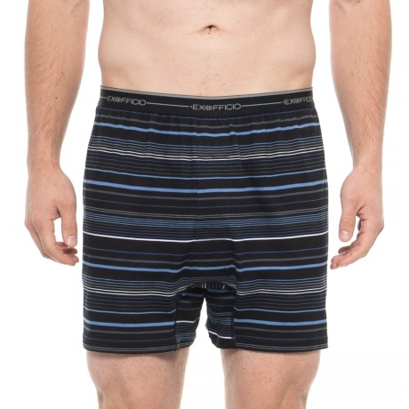 Image of Black Multi-Stripe Sol Cool Printed Boxers (For Men)
