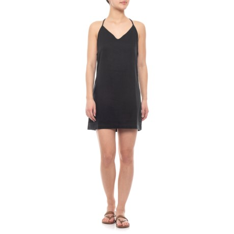Image of Black Nancy Cover-Up Dress - Sleeveless(For Women)