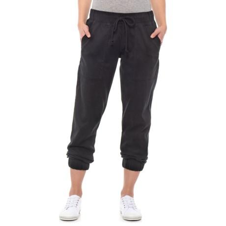 Image of Black Pocket Joggers (For Women)