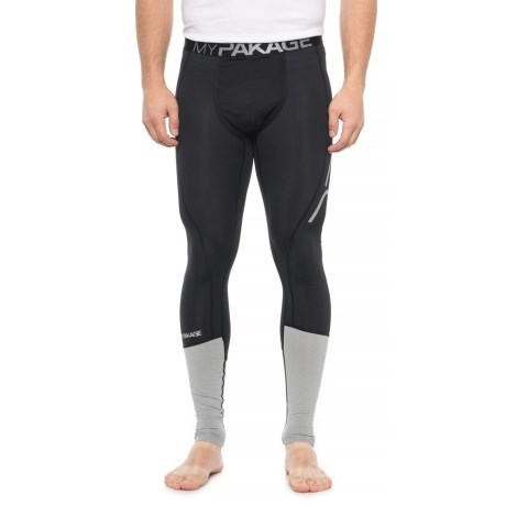 Image of Black Pro Series Compression Base Layer Pants (For Men)