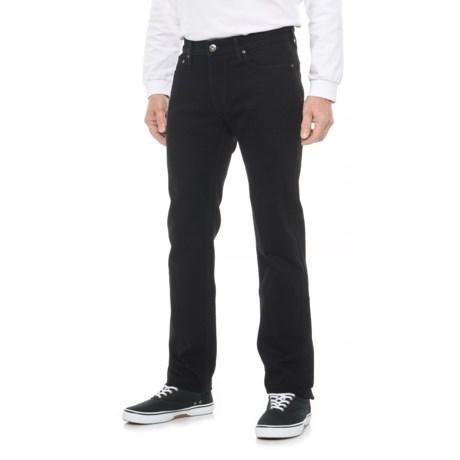 Image of Black Slim Straight Jeans (For Men)
