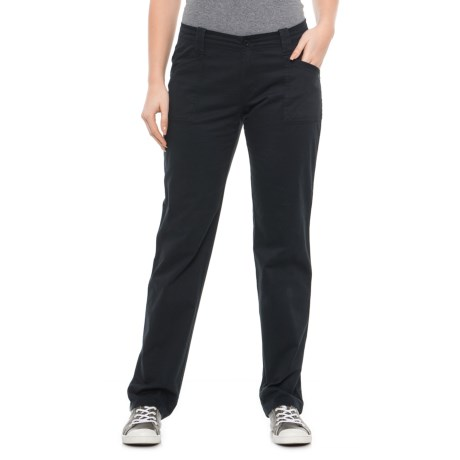 Image of Black Solid Pants (For Women)