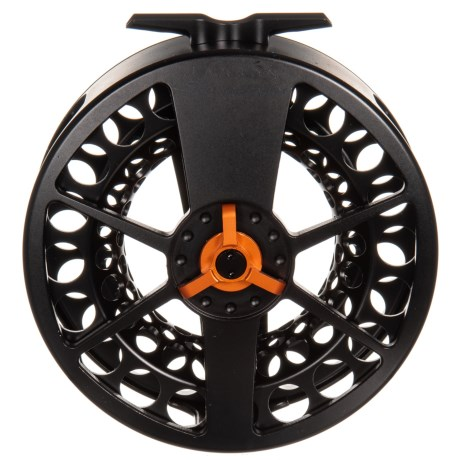 Black Speedster 4 Fly Reel – 10-11 wt, Orange Drag Knob