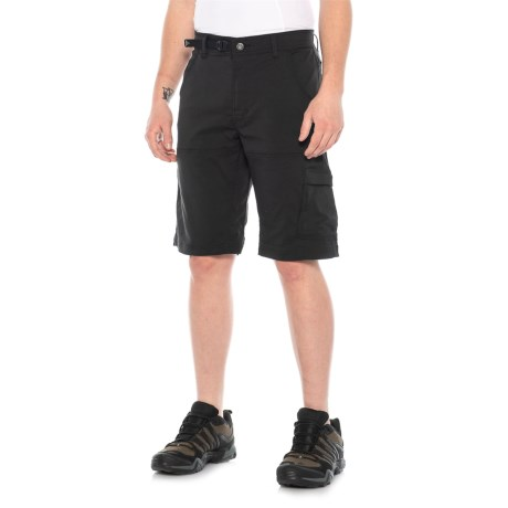 Image of Black Stretch Zion Shorts (For Men)