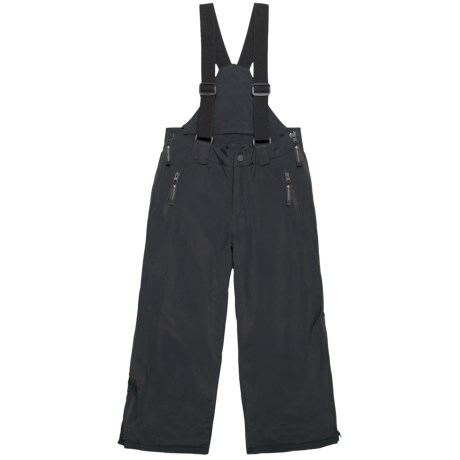 Image of Black Surface Full-Zip Suspender Pants - Waterproof, Insulated (For Big Kids)