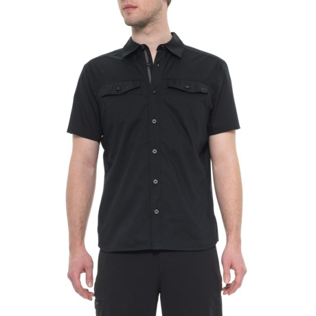 Black Technician Shirt Short Sleeve (for Men) Black (m )