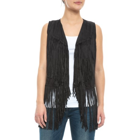 Image of Black Vest - Sleeveless (For Women)