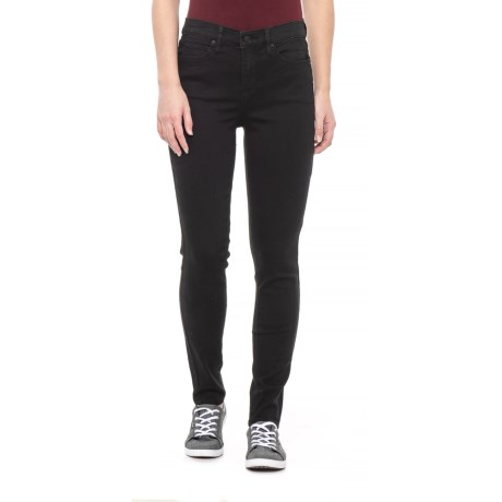 Image of Black Wash High Rise Skinny Jeans (For Women)