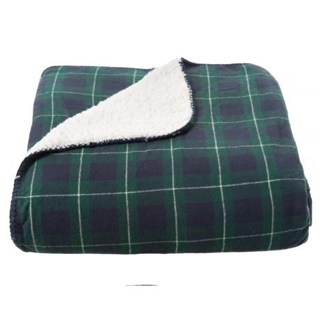 Image of Black Watch Tartan Plaid Blanket - Full/Queen, Reversible