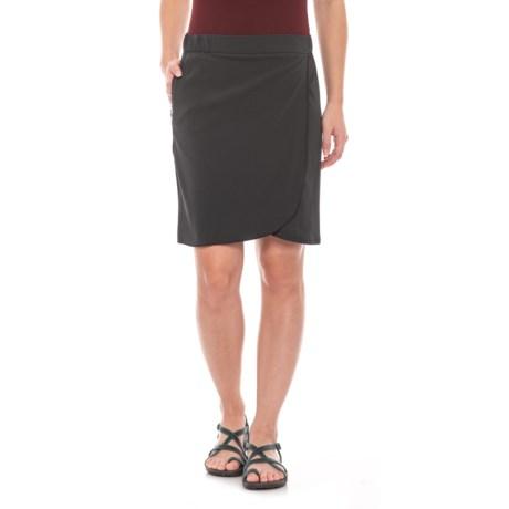 Image of Black Whirlwind Skirt - UPF 40+ (For Women)