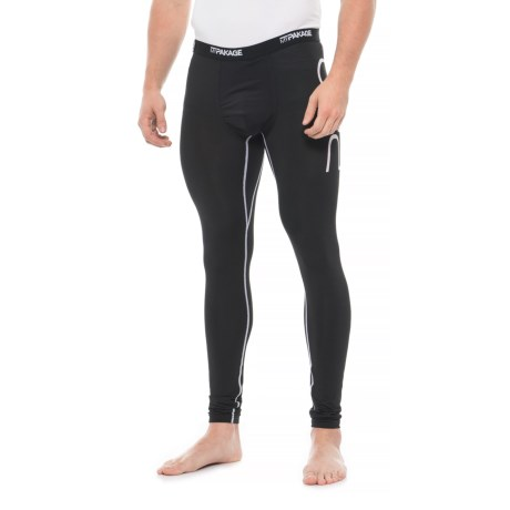 Image of Black White Pro Series Base Layer Pants (For Men)
