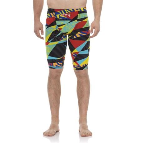 Image of Black/Multi Avictor Prelude High Short Jammer Swimsuit (For Men)