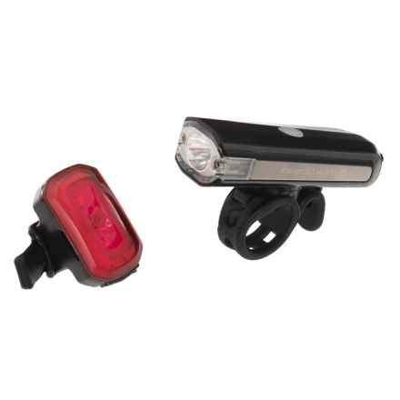Blackburn Central 350 Micro Front/Click USB Rear Bike Lights in Black - Closeouts