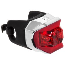 Blackburn Metallic Click Rear Bike Light in Chrome - Closeouts