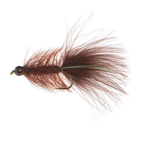 Black's Flies BB Damsel Dragon Bugger Streamer Fly - Dozen in Brown