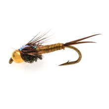 Black's Flies Bead Head Flashback Copper John Nymph Flies - Dozen in Gold - Closeouts