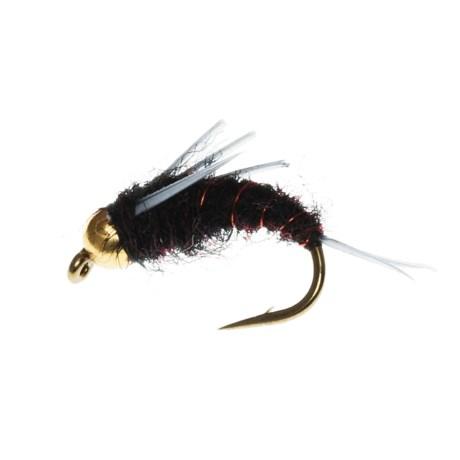 Black's Flies Bead Head North Fork Special Nymph Flies - Dozen in Black