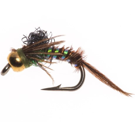 Black's Flies Black's Flies Gold Bead Angelcase Emerger Nymph Fly - Dozen in Blue Winged Olive