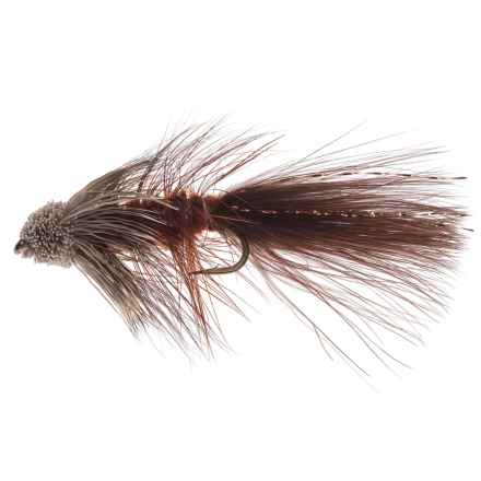 Black's Flies Bow River Bugger Streamer Fly - Dozen in Brown - Closeouts
