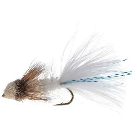 Black's Flies Bow River Bugger Streamer Fly - Dozen in White - Closeouts