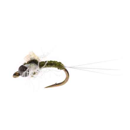 Black's Flies BTB Drowned Spinner Dry Fly - Dozen in Pearl/Olive - Closeouts