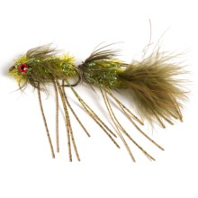 Black's Flies Circus Streamer Flies - Dozen in Olive - Closeouts
