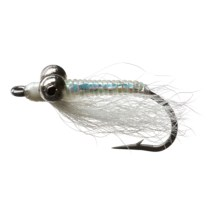 Black's Flies Crazy Charlie Saltwater Fly- Dozen in White - Closeouts