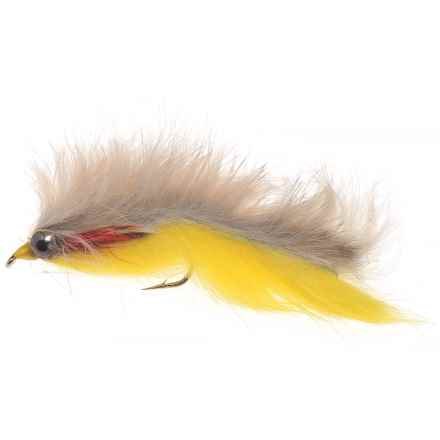 Black's Flies Double Bunny Streamer Flies - Dozen in Tan/Yellow - Closeouts