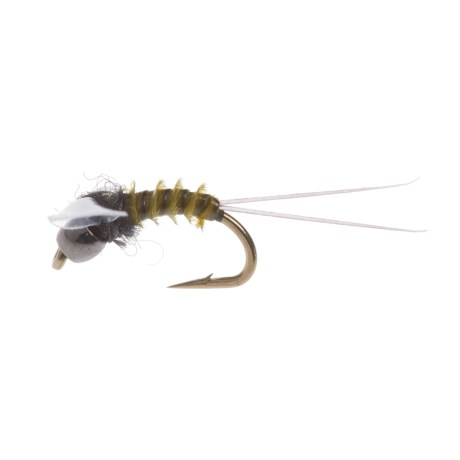 Black's Flies Drowned Spinner Trico Biot/Beadhead Dry Fly - Dozen in Olive
