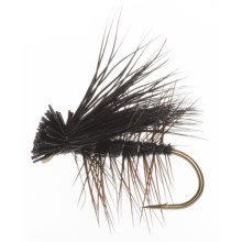 Black's Flies Elk Caddis Dry Flies - 12 in Black - Closeouts