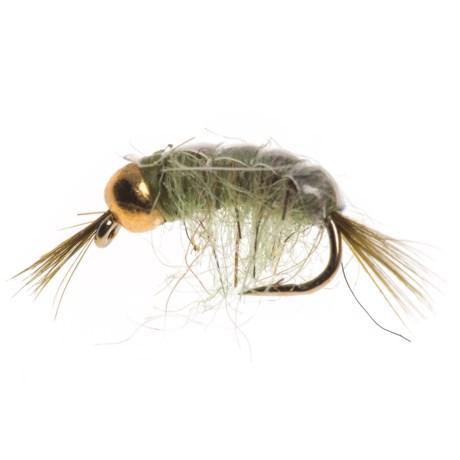 Black's Flies GB Scud Nymph Fly - Dozen in Grey/Olive