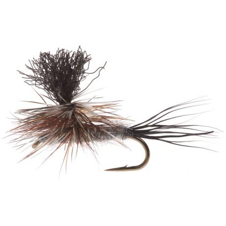 Black's Flies Glarachute Adam's Dry Fly - Dozen in See Photo