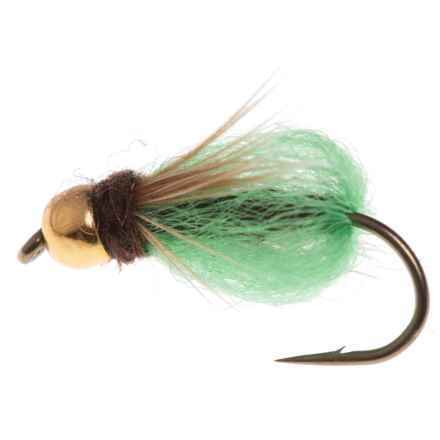 Black's Flies Gold Bead Deep Sparkle Pupa Nymph Fly - Dozen in Brown/Bright Green - Closeouts