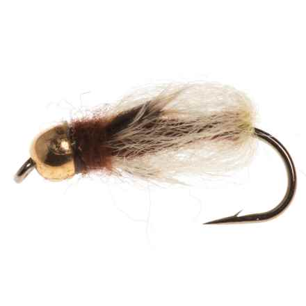 Black's Flies Gold Bead Deep Sparkle Pupa Nymph Fly - Dozen in Brown/Yellow - Closeouts