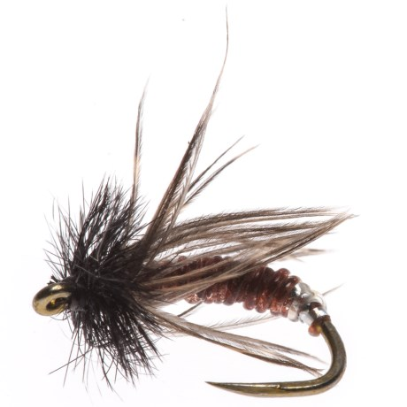 Black's Flies Graphic Caddis Nymph Fly - Dozen, Barbless in Brown