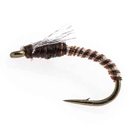 Black's Flies Jujubee Midge Nymph Fly - Dozen in Brown - Closeouts