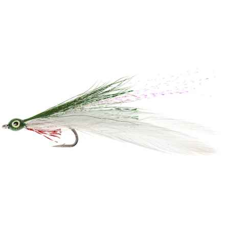Black's Flies Lefty Deceiver Saltwater Fly- Dozen in White/Green - Closeouts