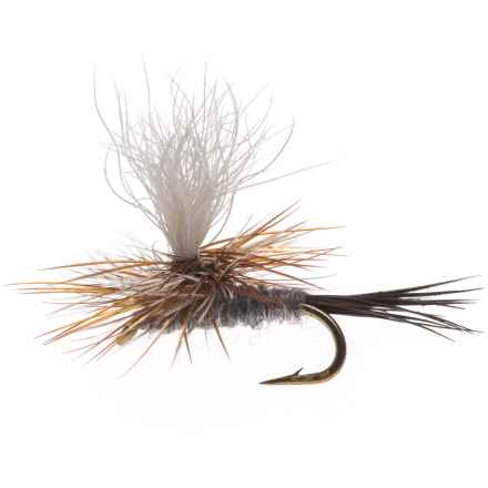 Black's Flies Parachute Adam's Moose Tail Dry Fly - Dozen in Moose Tail - Closeouts