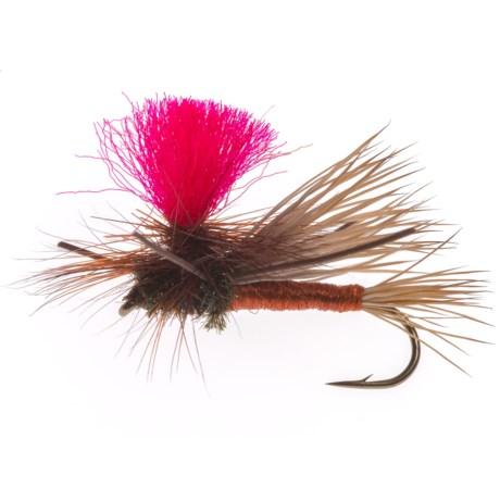 Black's Flies PMX Dry Fly - Dozen in Pink Post Orange