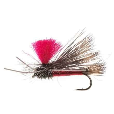 Black's Flies PMX Dry Fly - Dozen in Pink Post Red - Closeouts