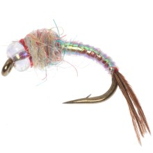 Black's Flies Rainbow Warrior Nymph Fly - Dozen in Pearl - Closeouts