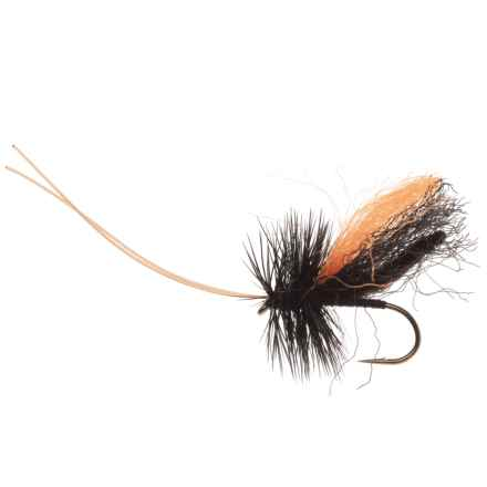 Black's Flies Slickwater Caddis Dry Fly - Dozen in Black - Closeouts